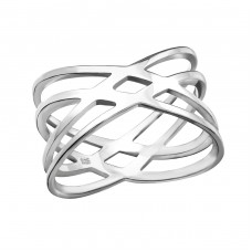 Intertwining - 925 Sterling Silver Basic Rings A4S38518