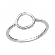 Oval - 925 Sterling Silver Basic Rings A4S38523