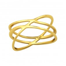 Intertwining - 925 Sterling Silver Basic Rings A4S38553