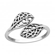 Leaf - 925 Sterling Silver Basic Rings A4S38597