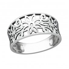 Flower - 925 Sterling Silver Basic Rings A4S38598