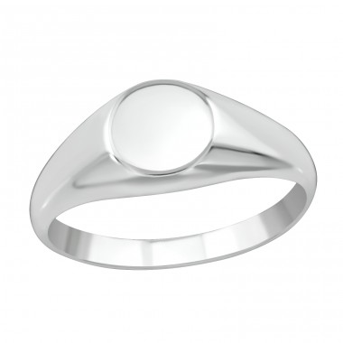 Round - 925 Sterling Silver Basic Rings A4S38657