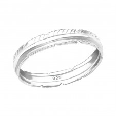 Leaf - 925 Sterling Silver Basic Rings A4S38771