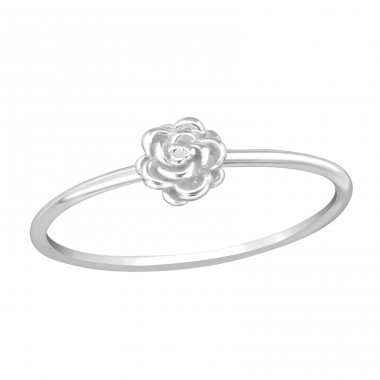 Rose - 925 Sterling Silver Basic Rings A4S38948