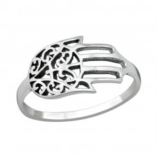 Hamsa - 925 Sterling Silver Basic Rings A4S38954