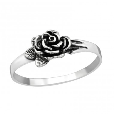 Rose - 925 Sterling Silver Basic Rings A4S38955