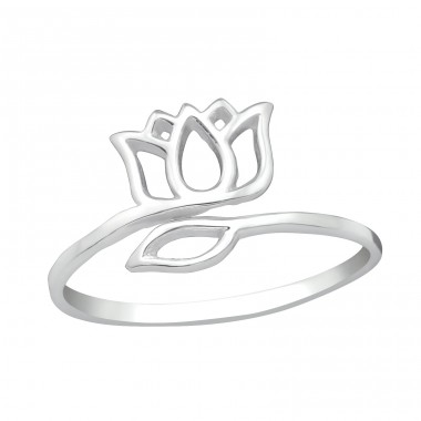 Tulip - 925 Sterling Silver Basic Rings A4S38956