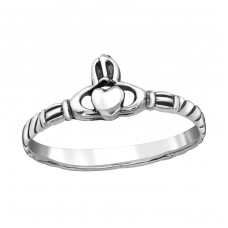 Heart - 925 Sterling Silver Basic Rings A4S38978
