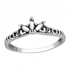 Crown - 925 Sterling Silver Basic Rings A4S38979