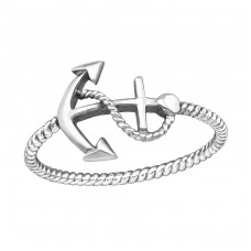 Anchor - 925 Sterling Silver Basic Rings A4S38982