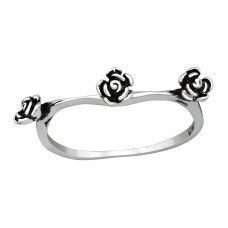 Rose - 925 Sterling Silver Basic Rings A4S38984