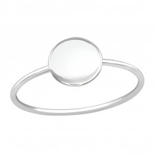 Round - 925 Sterling Silver Basic Rings A4S39250