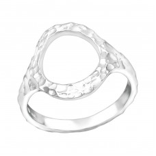 Patterned Circle - 925 Sterling Silver Basic Rings A4S39251