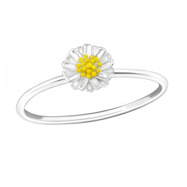 Flower - 925 Sterling Silver Basic Rings A4S39255