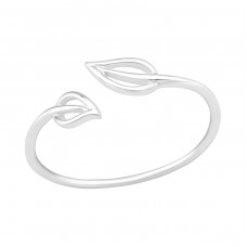 Leaf - 925 Sterling Silver Basic Rings A4S39353