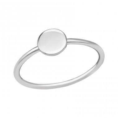 Round - 925 Sterling Silver Basic Rings A4S39369