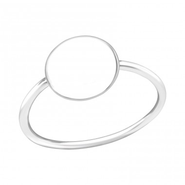Round - 925 Sterling Silver Basic Rings A4S39370