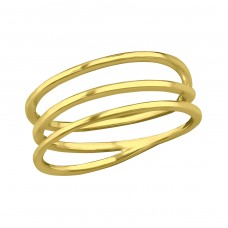 Intertwining - 925 Sterling Silver Basic Rings A4S39437