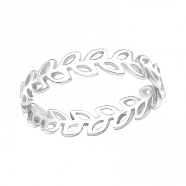 Leaves - 925 Sterling Silver Basic Rings A4S39495