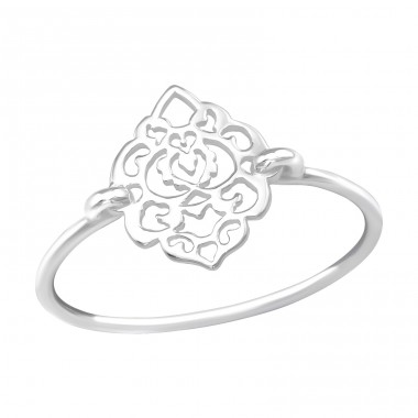 Filigree - 925 Sterling Silver Basic Rings A4S39498
