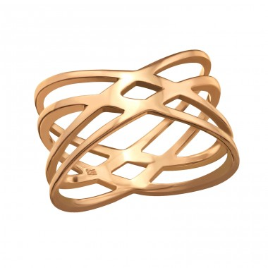 Intertwining - 925 Sterling Silver Basic Rings A4S39508