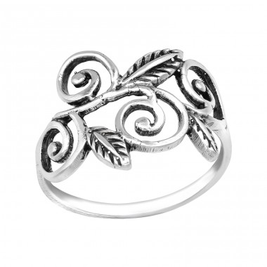 Leaf - 925 Sterling Silver Basic Rings A4S39614
