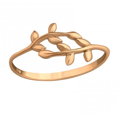Branches - 925 Sterling Silver Basic Rings A4S39662
