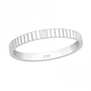 Patterned - 925 Sterling Silver Basic Rings A4S39980