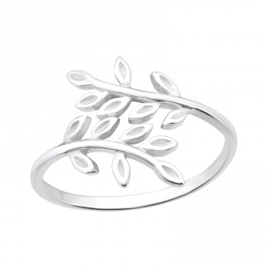 Olive Leaf - 925 Sterling Silver Basic Rings A4S40003