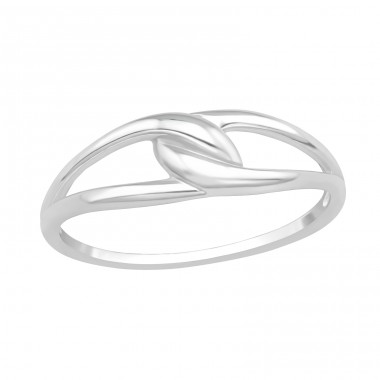 Knot - 925 Sterling Silver Basic Rings A4S40059