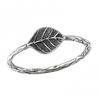 Leaf - 925 Sterling Silver Basic Rings A4S40069