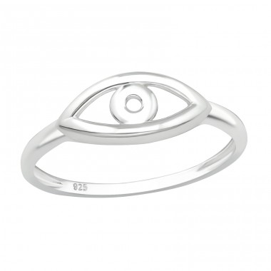 Evil Eye - 925 Sterling Silver Basic Rings A4S40071