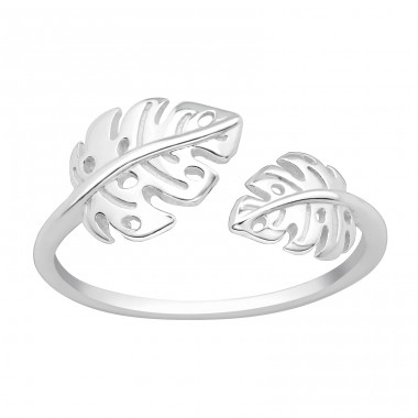 Leaf - 925 Sterling Silver Basic Rings A4S40073