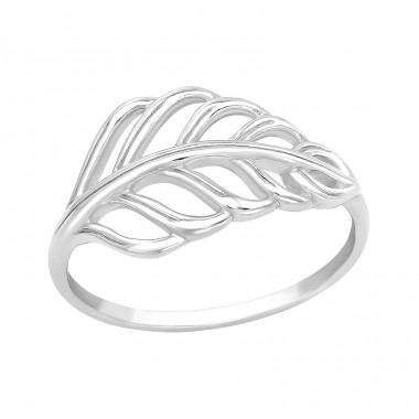Big Leave - 925 Sterling Silver Basic Rings A4S40271