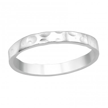 Patterned - 925 Sterling Silver Basic Rings A4S40457