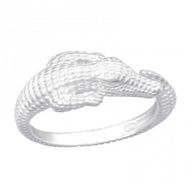 Crocodile - 925 Sterling Silver Basic Rings A4S40458