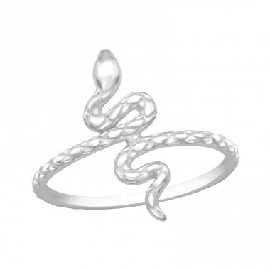 Snake - 925 Sterling Silver Basic Rings A4S40460