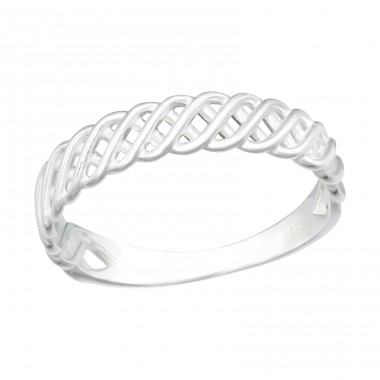 Intertwining - 925 Sterling Silver Basic Rings A4S40462
