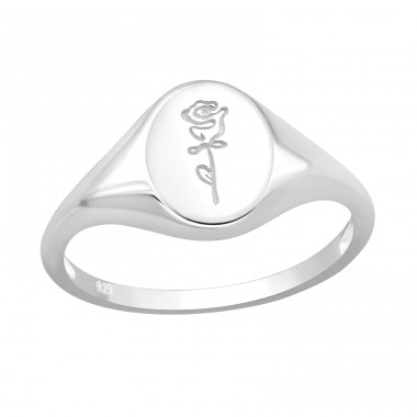 Rose - 925 Sterling Silver Basic Rings A4S40603