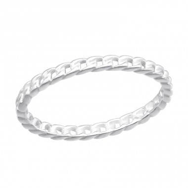 Chain - 925 Sterling Silver Basic Rings A4S40605