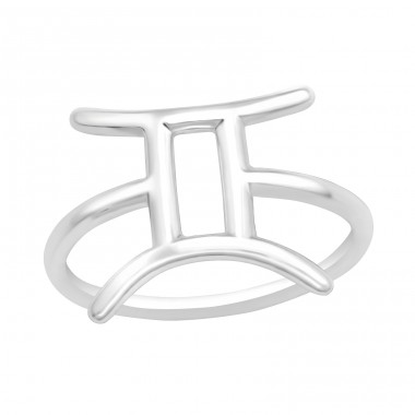 Gemini Zodiac Sign - 925 Sterling Silver Basic Rings A4S40624