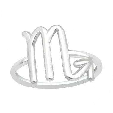 Scorpio Zodiac Sign - 925 Sterling Silver Basic Rings A4S40626