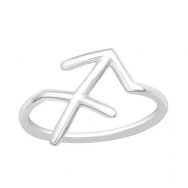 Sagittarius Zodiac Sign - 925 Sterling Silver Basic Rings A4S40627
