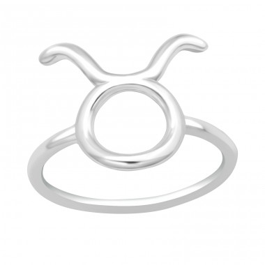 Taurus Zodiac Sign - 925 Sterling Silver Basic Rings A4S40629