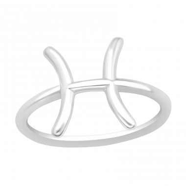 Pisces Zodiac Sign - 925 Sterling Silver Basic Rings A4S40630