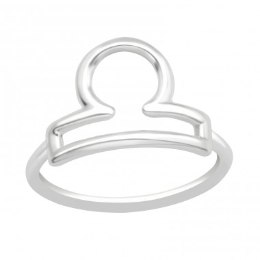 Libra Zodiac Sign - 925 Sterling Silver Basic Rings A4S40633
