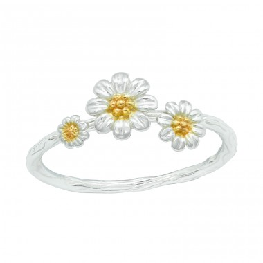 Flower - 925 Sterling Silver Basic Rings A4S40699