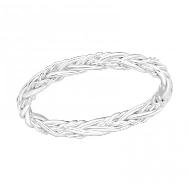 Braided - 925 Sterling Silver Basic Rings A4S40939
