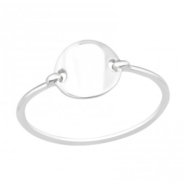 Connected Round - 925 Sterling Silver Basic Rings A4S41066