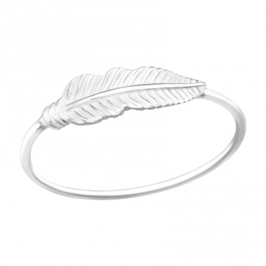 Feather - 925 Sterling Silver Basic Rings A4S41070